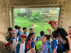 K zoo trip: the lion group learning to express themselves as lions!