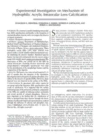 Experimental Investigation on Mechanism