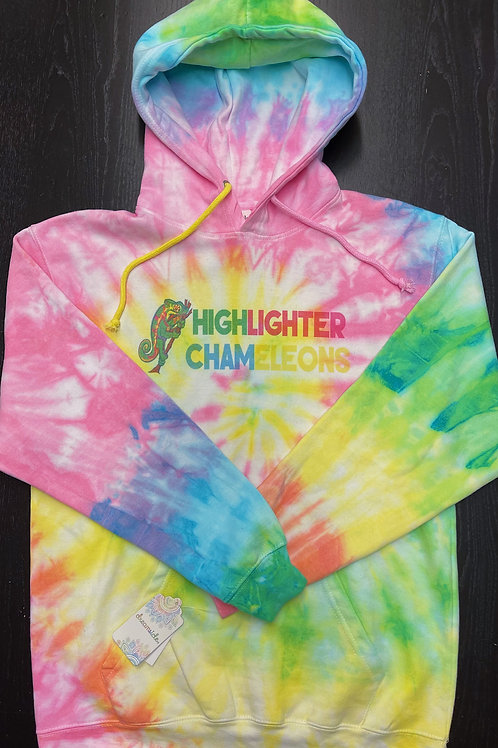 """HIGHLIGHTER CHAMELEONS """"Picasso"""" Tie Dye Hoodie"""
