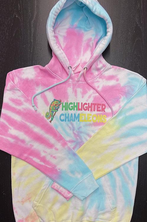 """HIGHLIGHTER CHAMELEONS """"Pastel"""" Tie Dye Hoodie"""