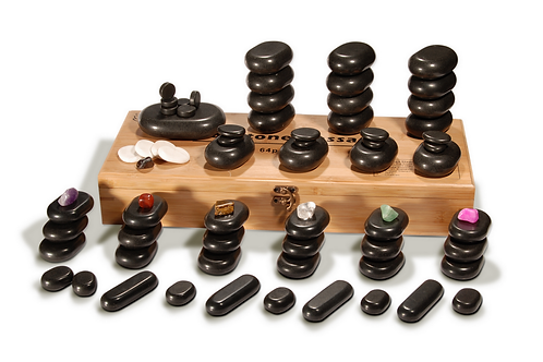 MT 70 Premium Deluxe Hot Stone Set for a full body massage