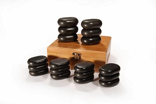 MT 18 Pieces Mini Basic Body Massage Hot Stone Set Black Lava vocano