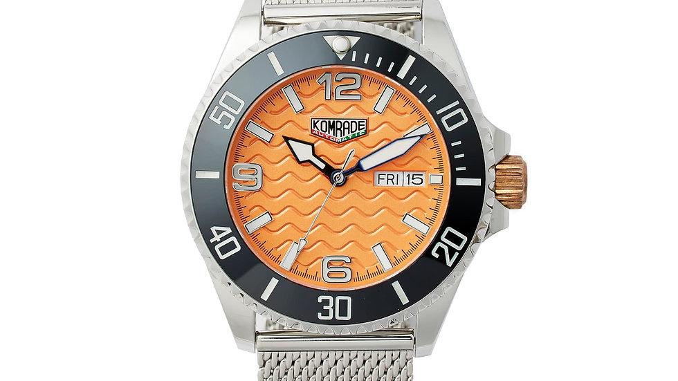 "43mm Urban Diver Mark 2 ""dive orange"".             SOLD OUT ON WWW.HUCKBERRY.COM"