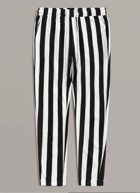 Black & White Stripe Pants