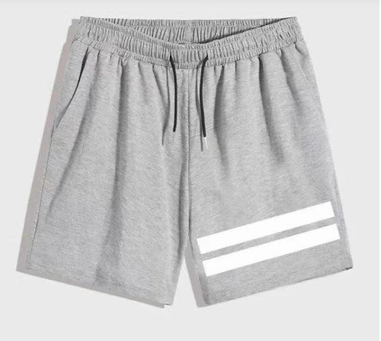 Gray Shorts w/ White Stripe