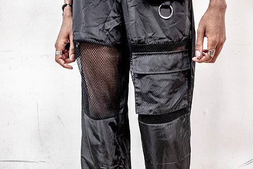 Flap Pocket w/ Mesh Insert Windbreaker Pants