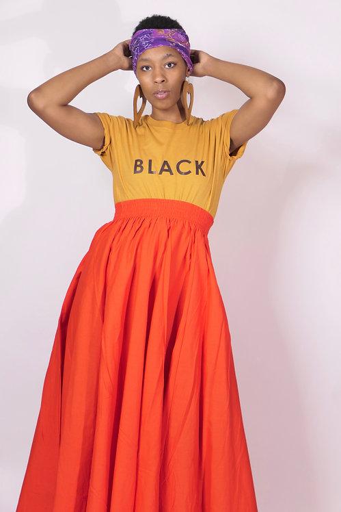 Burnt Orange Full Length Skirt