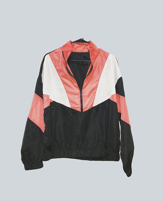 Tri-colored Pullover Windbreaker