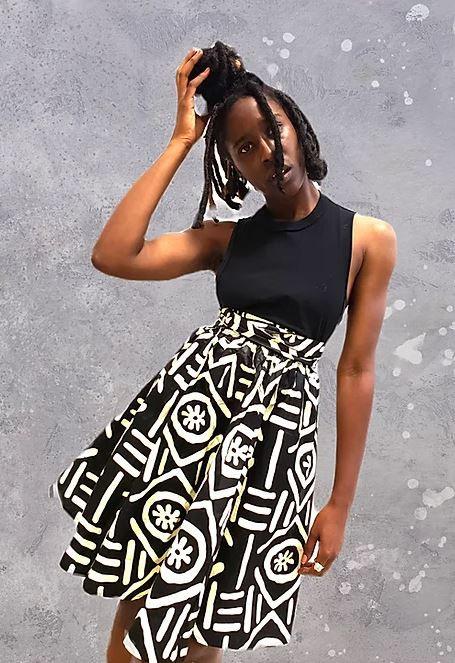 Multi-colored Print Skirt (Short)