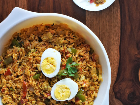 Cooking at Home - Egg Tava Pulao