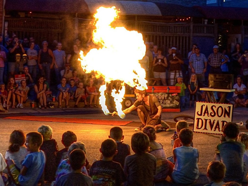 Jason D'Vaude- Awesome Fire Show