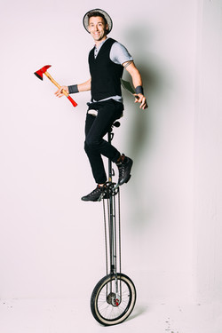 Unicycle Show by Jason D'Vaude