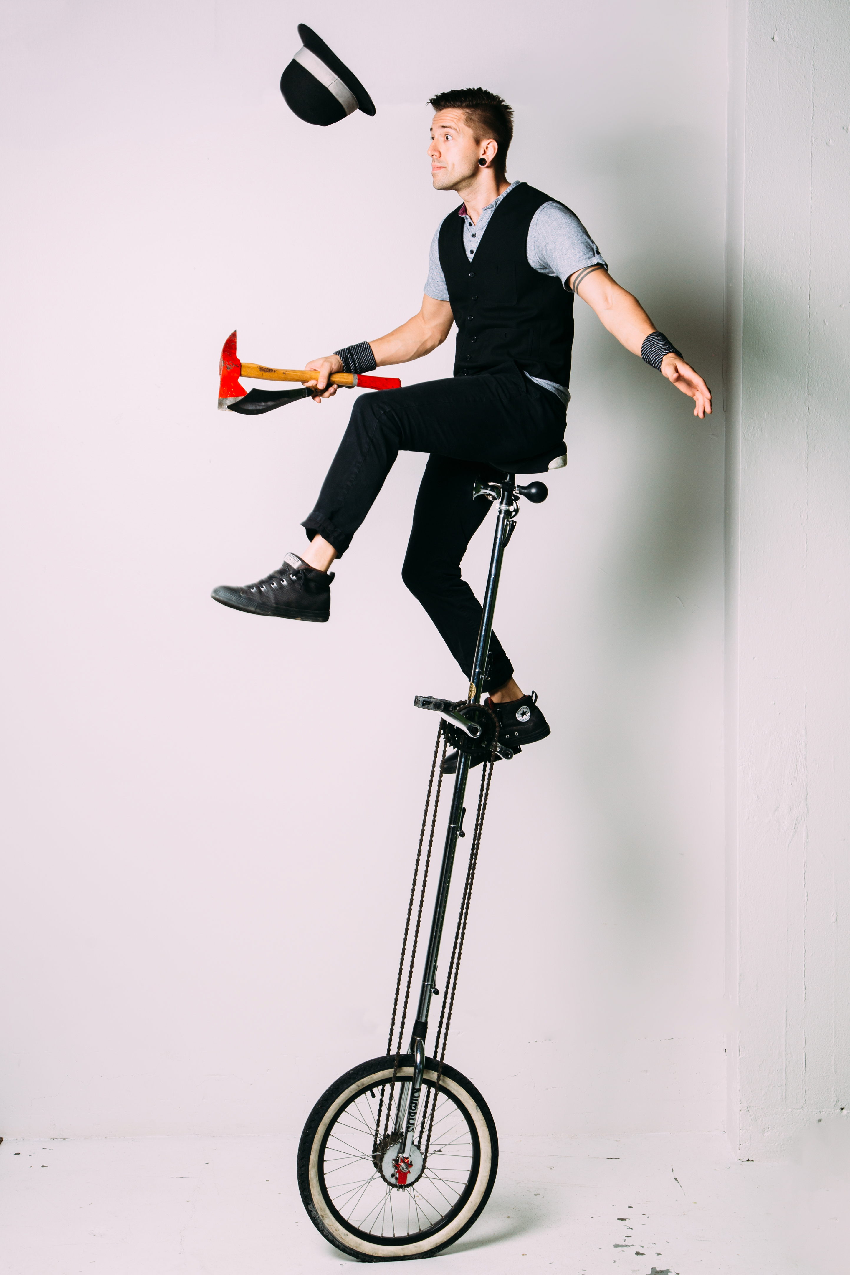 Unicycle Stunts by Jason D'Vaude
