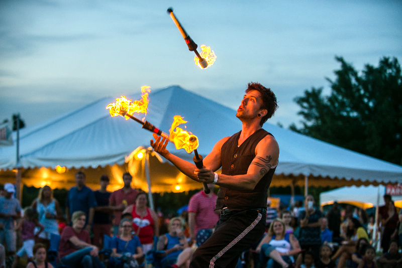 Jason D'Vaude Fire Juggler