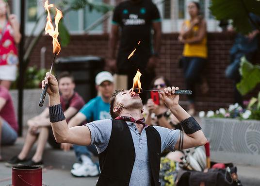 Jason D'Vaude Hilarious Fire Eating Extraordinaire