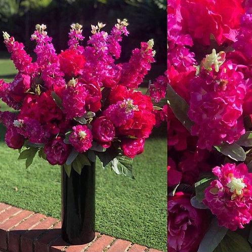 Pinks ( Black Vase)