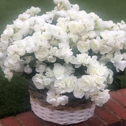 Silk Flower Hanging Basket