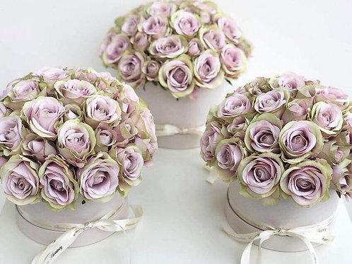 Silk Rose Hat Box