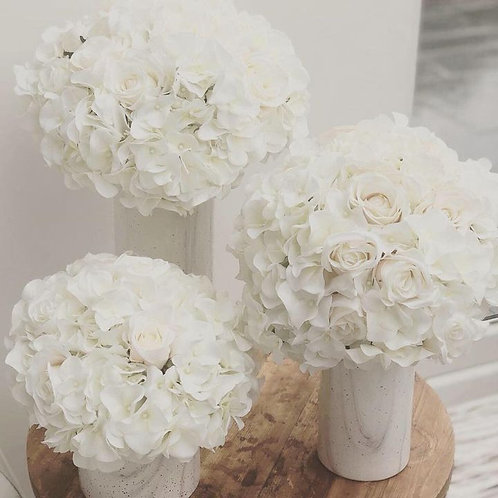 Trio Cluster White and Blush Mix