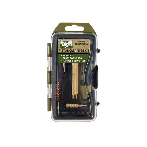 40cal/10mm 14 Piece Pistol Cleaning Kit