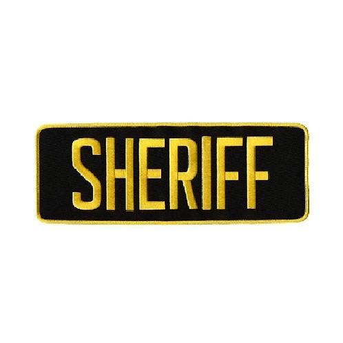 Sheriff Back Patch