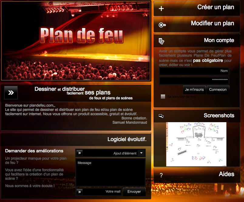 Capture d'ecran Site Plan de feu.com.png
