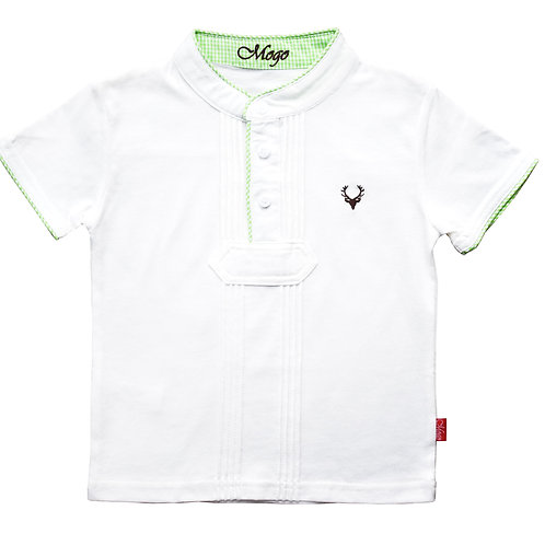 Mogo Kurzarm-Shirt Pfoadl grün