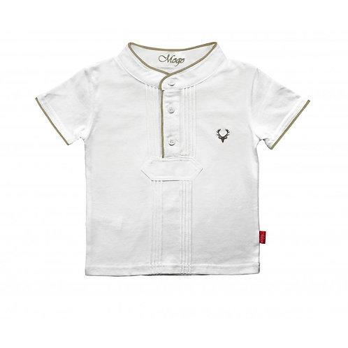 Mogo Kurzarm-Shirt Pfoadl braun