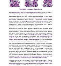 CCOO MANIFIESTO 8M-VACUNA PARA LA IGUALD
