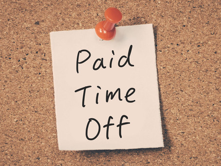 EXCITING NEWS - Paid Time Off