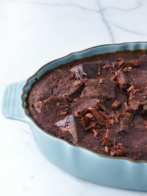 Banana Chocolate Bread Pudding