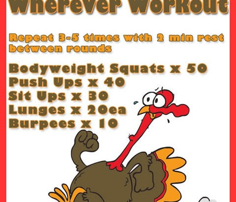 Your Do-Anywhere Turkey Day Workout