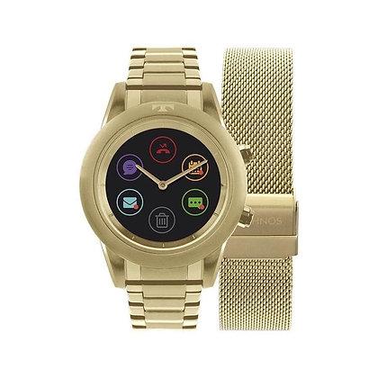 Relógio Technos Connect Duo Dourado  P01ac/4p