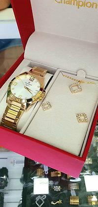 Relógio Champion kit CN28446W