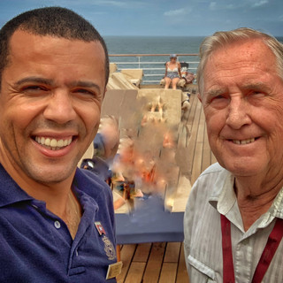 Two Authors aboard QM2