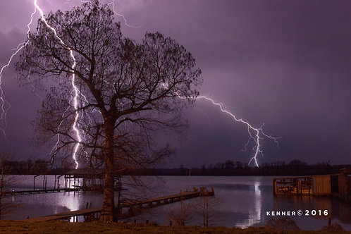 Lightning Over Horseshoe Lake