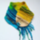 Handmade felted merino wool and Harris Tweed cowl / collar