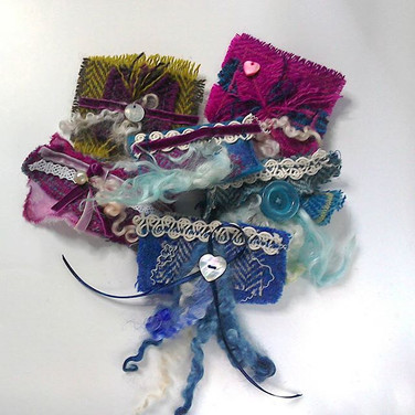 Harris Tweed brooches. Selection always available.