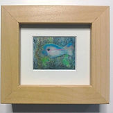 small fibre picture mounted and framed