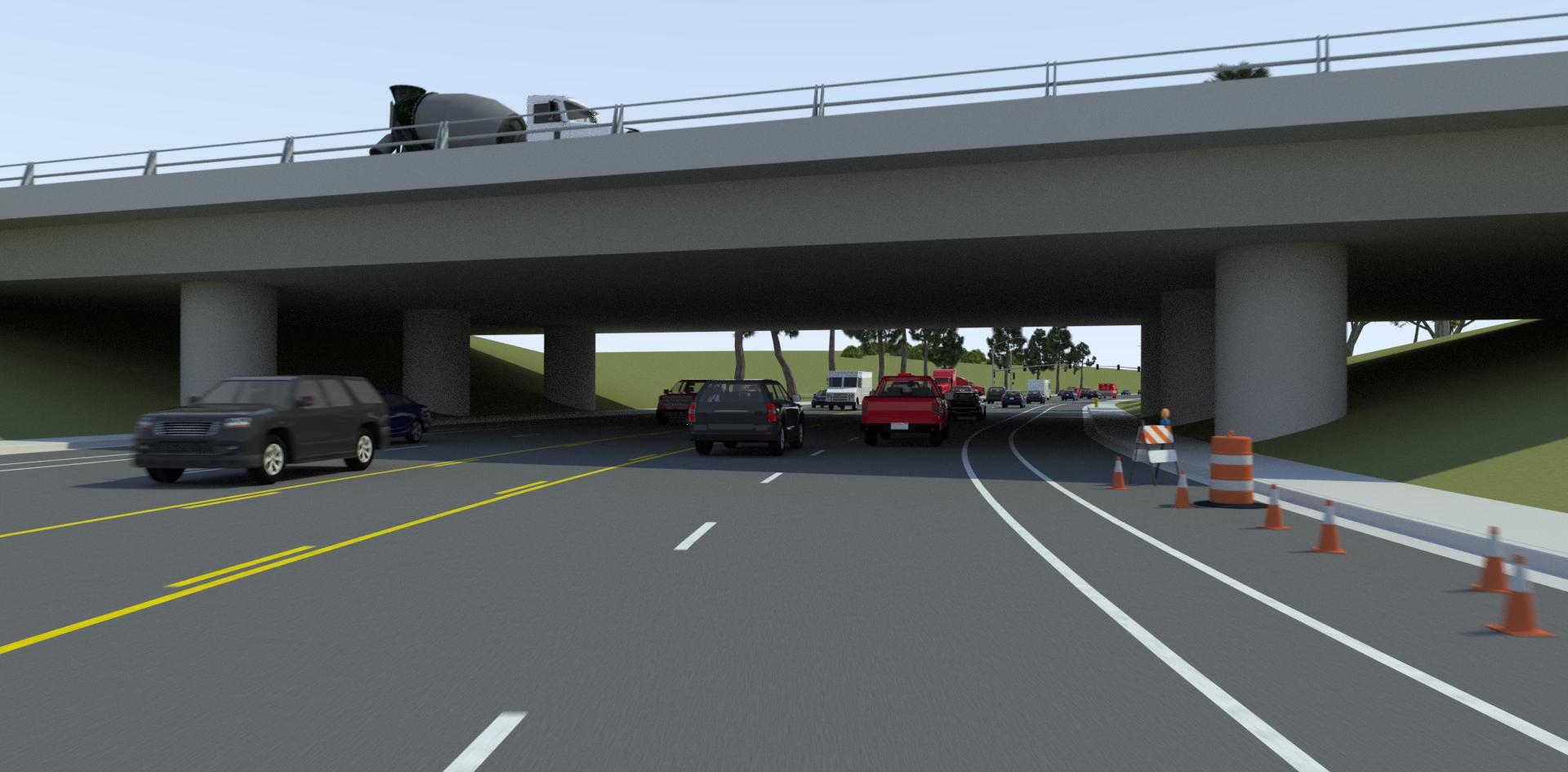 VectorZero Bridge with Traffic