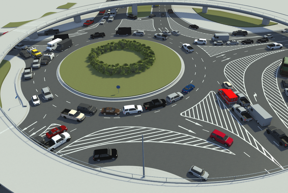 VectorZero Shanghai China Roundabout