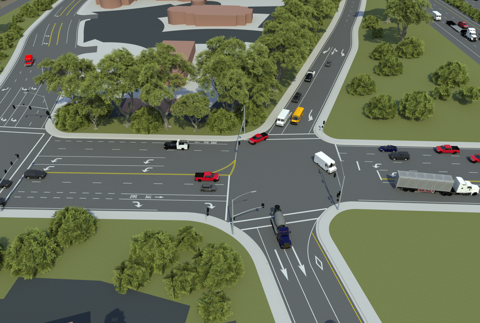 VectorZero Cannon Road Intersection with Traffic