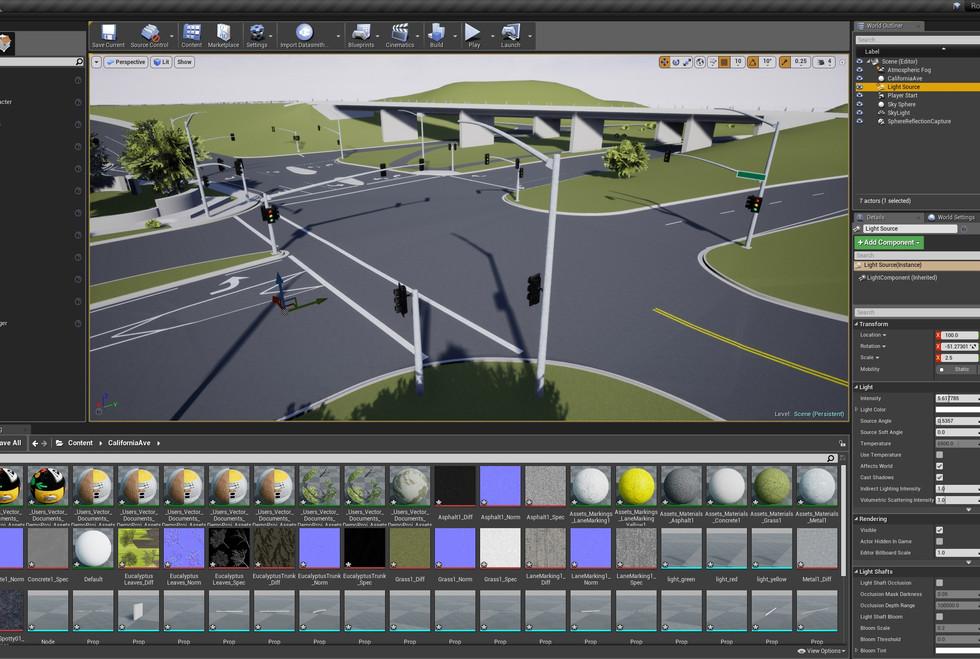 VectorZero Scene in Unreal Engine