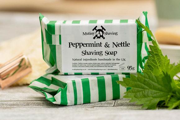 Peppermint & Nettle Shaving Soap - Mutiny Shaving