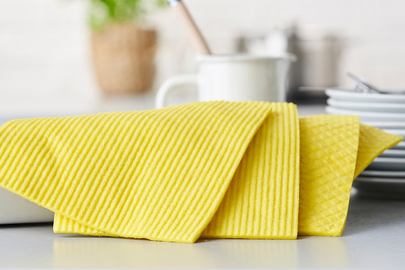Compostable Sponge Cleaning Cloths 4-pack