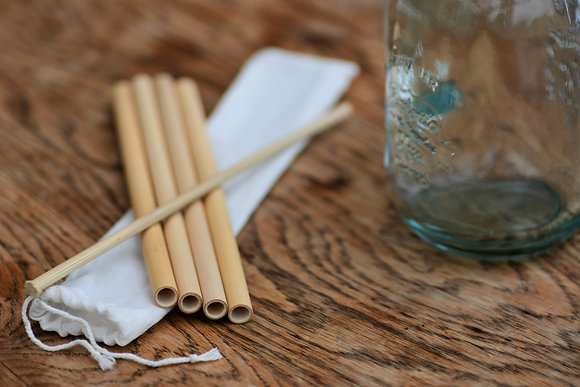Handmade Bamboo Straws 4 x 20cm