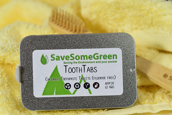 Tooth Tabs Fluoride Free - Tin with 62 tabs