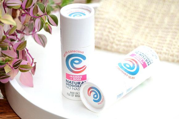 Earth Conscious Solid Deodorant - Jasmine & Rose