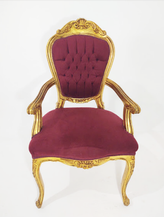 Cadeira Imperador Dourado com braço - Ref. 1001