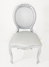 Cadeira Medalhão Prata Palha - Ref. 1396